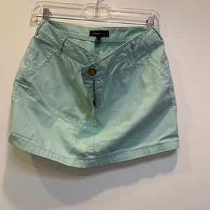 Mango cerulean blue short skirt